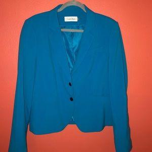 Calvin Klein Turquoise Suit Jacket/Blazer - W16